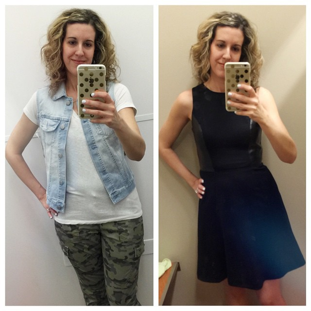 Had so much fun at the outlet mall today! Found a denim vest, camo pants and a leather lined dress! Yay! I stayed within my budget, too... 👍👏👏👏