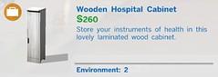 Wooden Hospital Cabinet