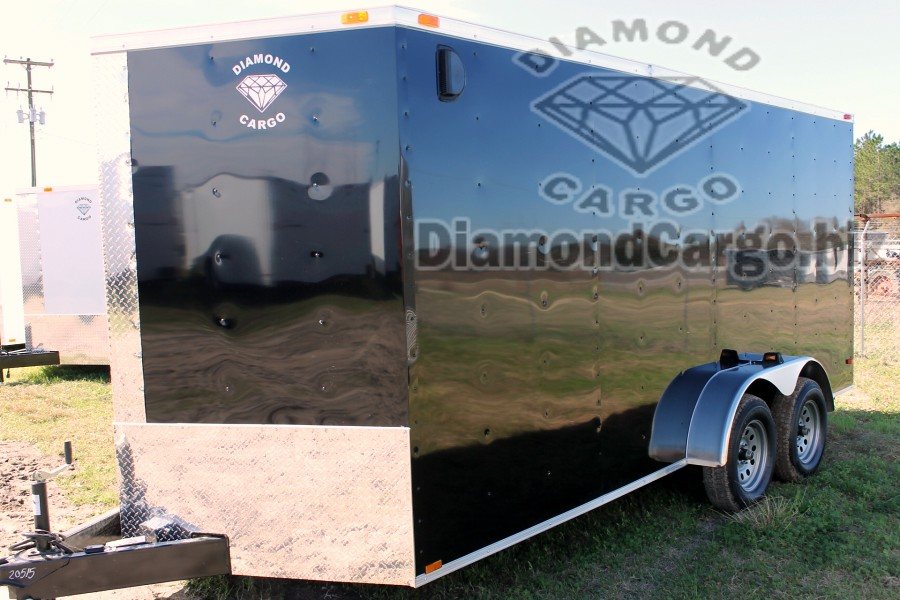 Get Black And White 7x16 Diamond Cargo Trailers Available Now Call Us For Any Custom Orders Please Allow 10 Days Other Colors 15 Working