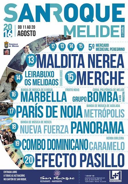 Melide 2016 - Festas de San Roque - cartel