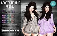 !NFINITY Sporty Hoodie - PASTEL