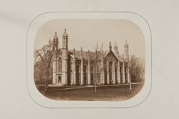 Salted Paper Print - Gore Hall, Harvard College