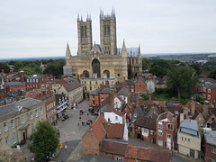 view of the Cathedral from Lincoln Castle