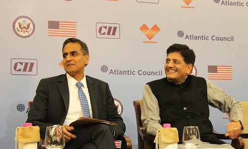 Richard Verma, US Ambassador to India and Piyush Goyal, Minister of New and Renewable Energy