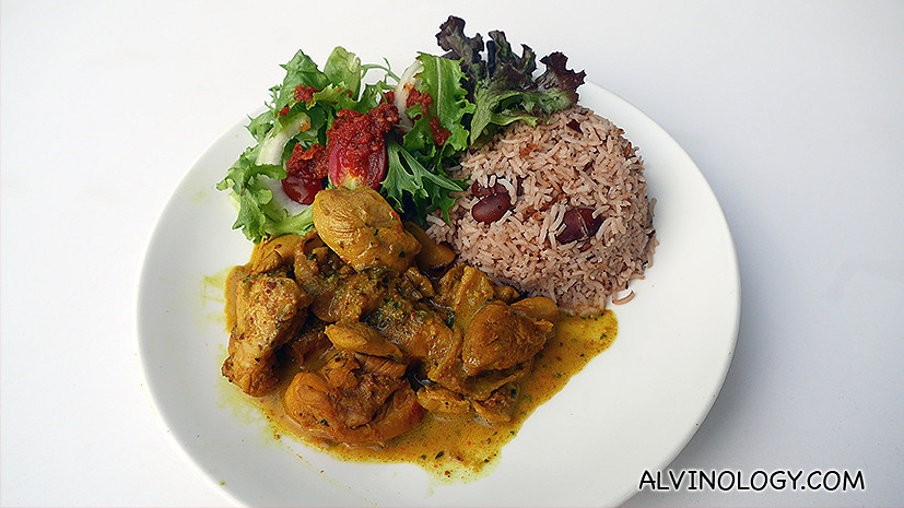 Chicken Curry ($13): Marinated in Trini