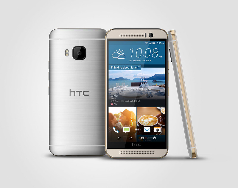 HTC One M9 - Dual-tone Silver and Rose Gold