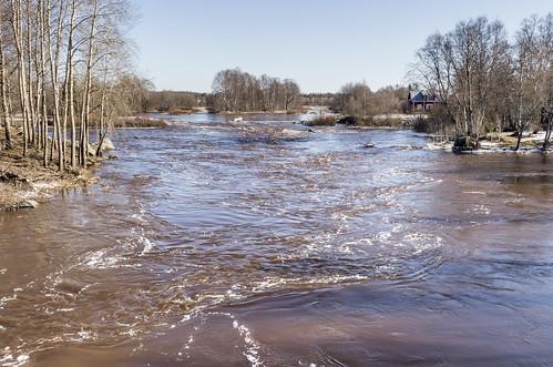 finland river spring vaasa 2015 ostrobothnia vähäkyrö pullinkoski