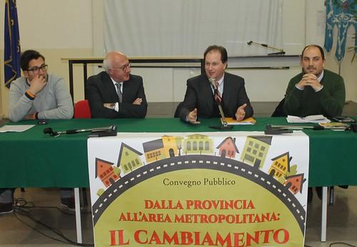 Da destra, Teofilo, Patroni-Griffi, Birardi e Topputi