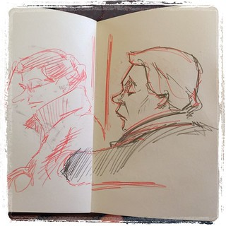 #urbansketch #portrait #train