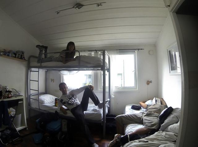 En nuestra habitación del alojamiento de Stavanger para ir al Púlpito