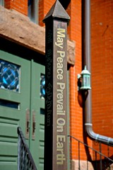 Happy Easter - May Peace Prevail On Earth - First Congregational Church - Elgin IL