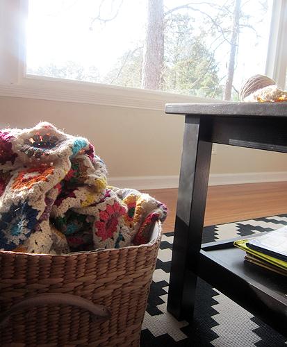 Sunburst crochet blanket
