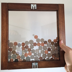 Frame coin bank