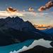 Peyto Lake Sunset by B.E.K. Photography