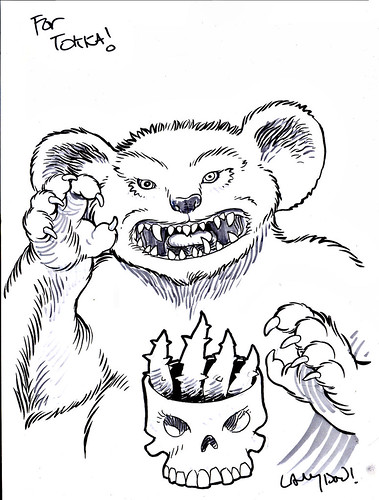 """PAIN BEAR"" of the Terror Bears by LANGDON FOSS (( 2015 ))"