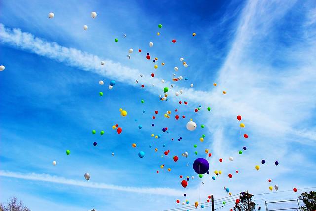 101 Rainbow Balloons