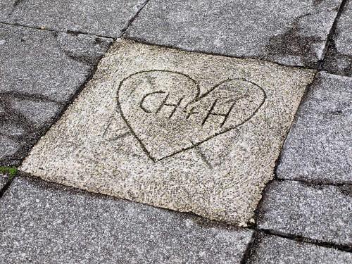 Herz an der Traunuferpromenade