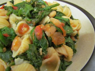 Pasta e Fagioli with Spinach