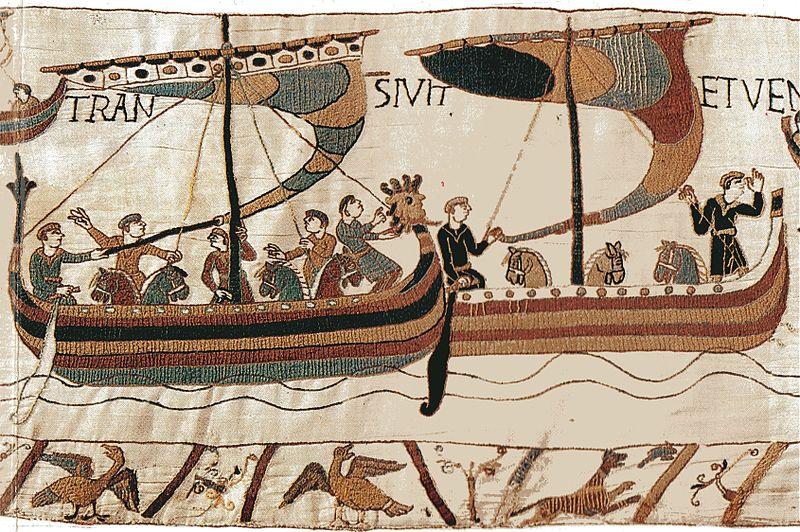 Bayeux horses boats