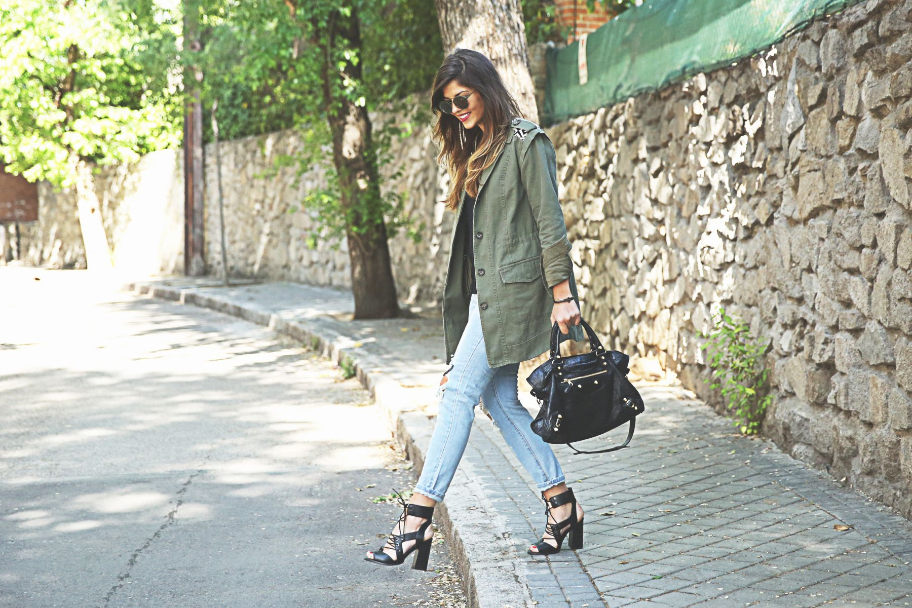 Parka and Jeans