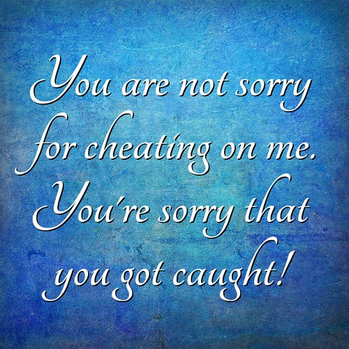 You're Not Sorry For Cheating on me
