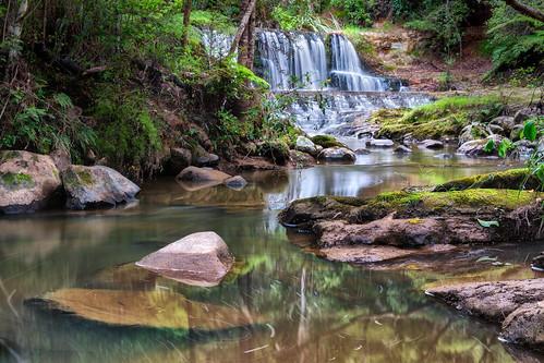 newzealand waterfall stream auckland kaukapakapa omerupareserve