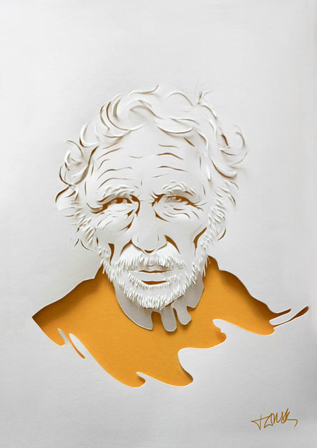 Pierre Richard Papercut Portrait