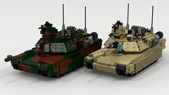 Woodland and Desert M1A2 Abrams