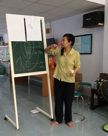 Daily Activities - Dr. Thanh-Tam (OBV Chair) gave lesson about sex education