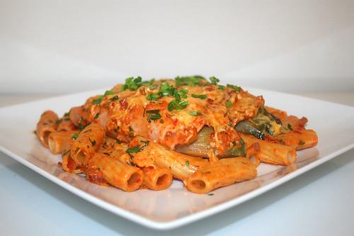 42 - Chicory pasta bake - Side view / Chicoree Nudelauflauf - Seitenansicht