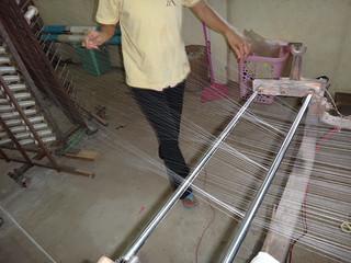 Combining many silk fibers into threads