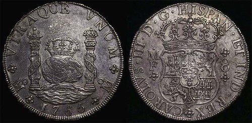 1765 Mexico pillar dollar 8R