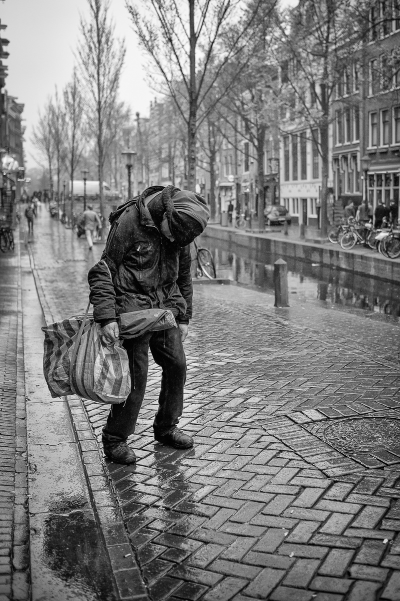 zwart wit foto's van amsterdam