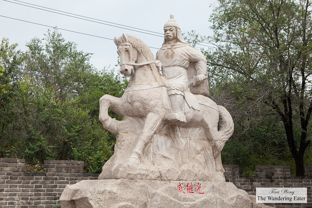 Genghis Khan statue near Great Wall of China