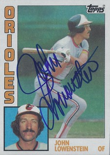 1984 Topps - John Lowenstein #604 (Outfielder) - Autographed Baseball Card (Baltimore Orioles)
