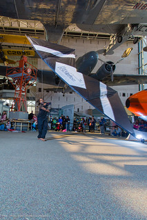 Indoor kite flying at the Smithsonian National Air & Space Museum