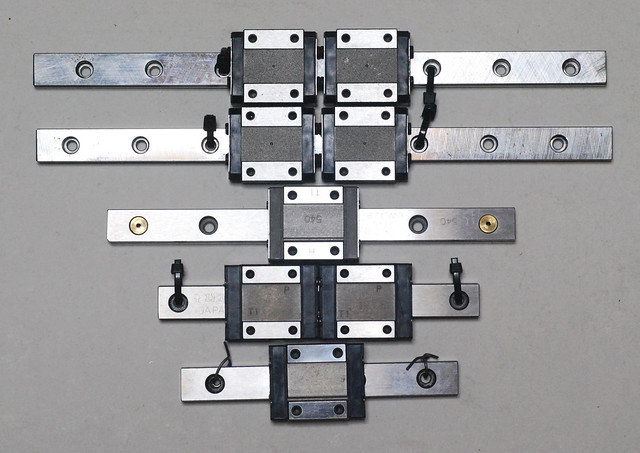 Conventionally, linear guide of the standard that I used