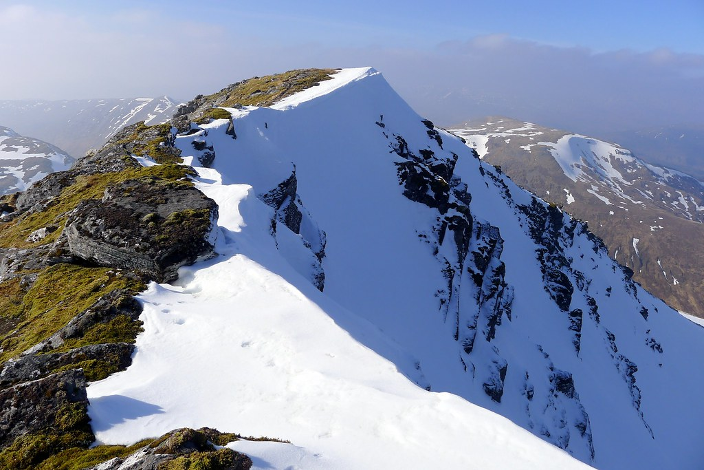 The summit ridge of Sgurr Choinnich