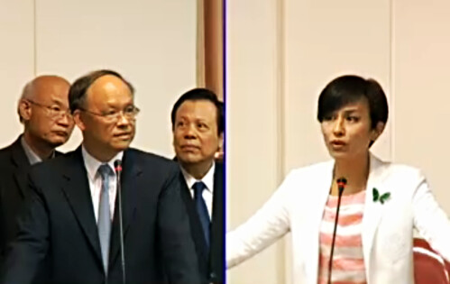 立委質詢經濟部長台灣自來水漏水率及合理水價。截圖自立院VOD。