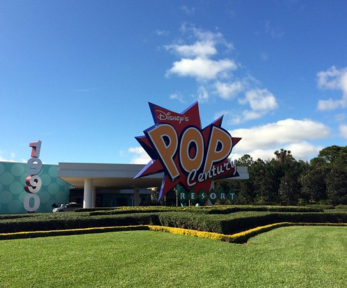 Orlando - Disney World - Disney's Pop Century Resort - Entrance Sign