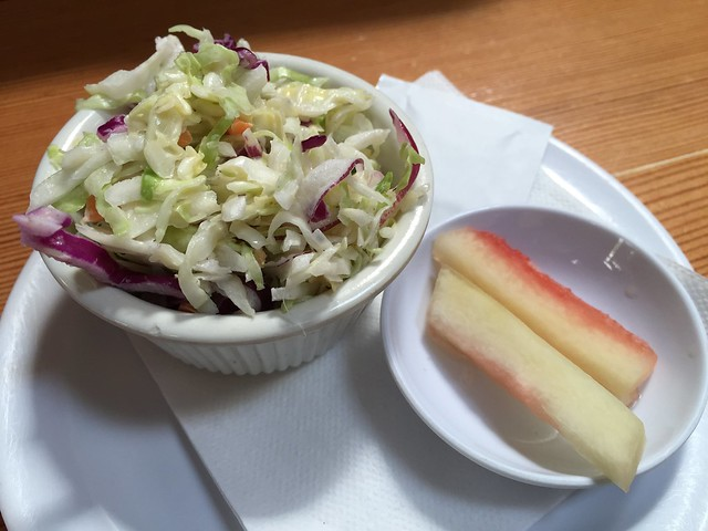 Cole slaw and pickled watermelon rinds - Brenda's French Soul Food