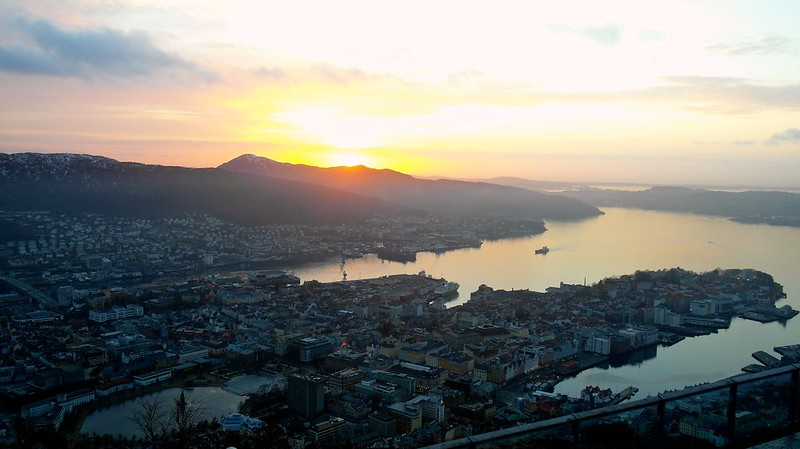 Sunset from Mount Fløyen, Bergen