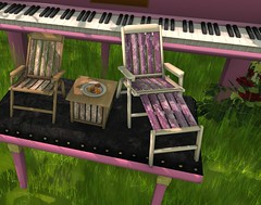 Petite Piano Picnic - Chairs and Cookies