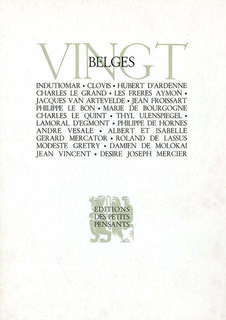 Vingt Belges cover