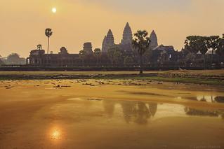 Glowing Angkor Wat