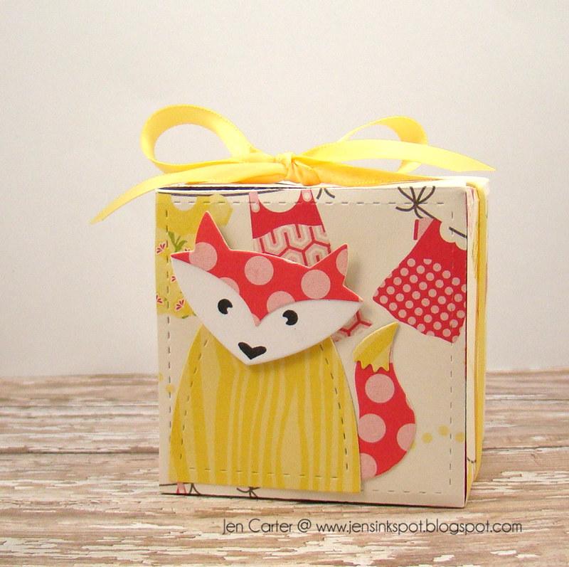 Jen Carter Petal Card Die Fox Box 1