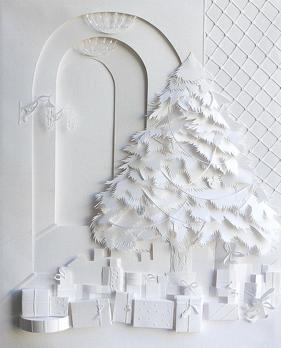 Christmas Tree - Paper Illustration by Marina Adamova
