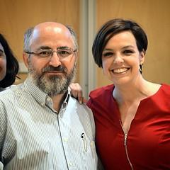 Ayer en la gala Hospital Optimista, junto a Cristina Villanueva, presentadora del acto