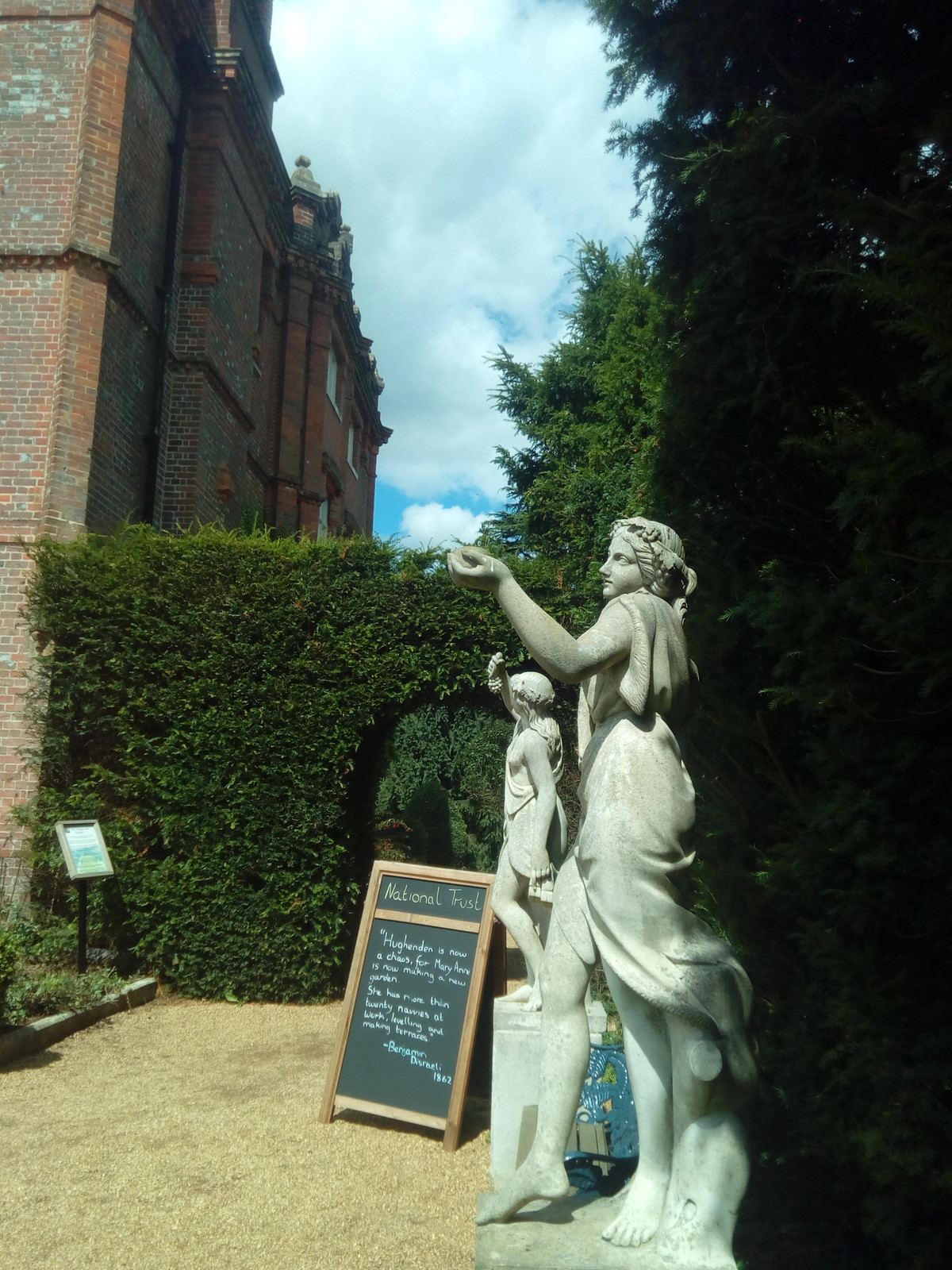 Statues bearing fruit Hughenden Mansion