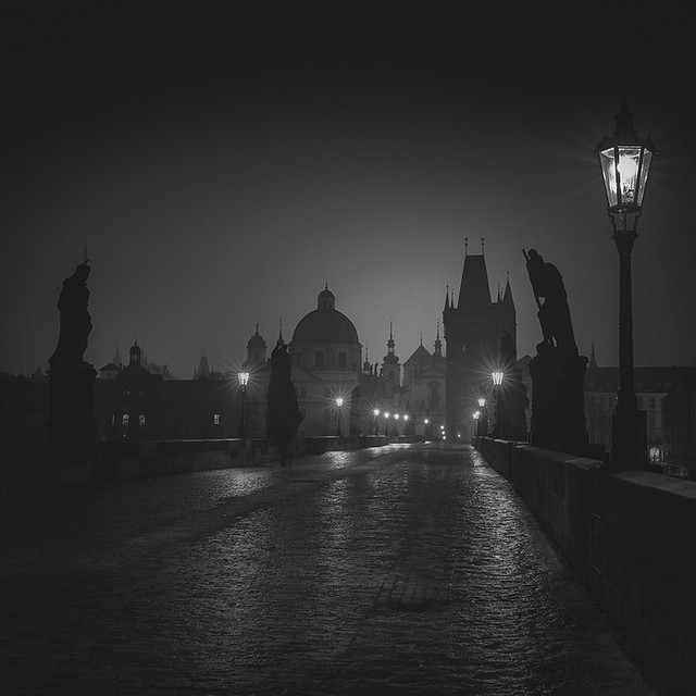 Dawn on Charles Bridge